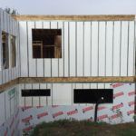 Energy Efficient Polycore foundation with uppe rlevel Polycore walls under construction